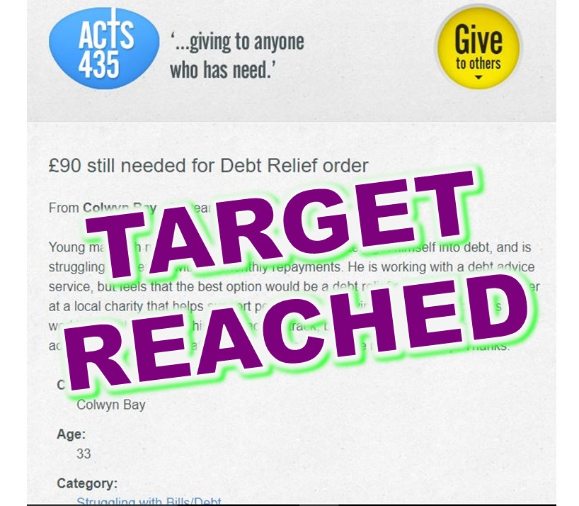 2017-08-15 Debt Relief Order - target reached