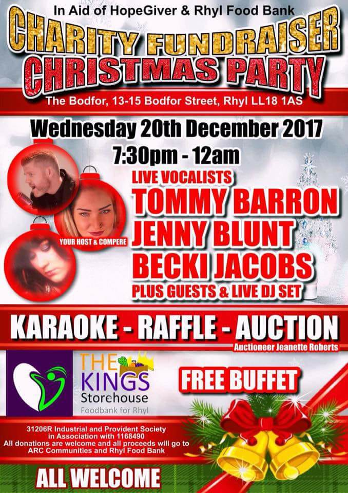 Rhyl Charity Fundraiser - 20th December 2017